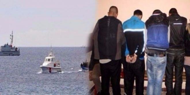 قرقنة -صفاقس:  القبض على 05 أشخاص من أجل تكوين وفاق لإجتياز الحدود البحرية خلسة