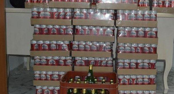 ليلة العيد بصفاقس: حجز 4000 قارورة خمر من قبل شرطة النجدة