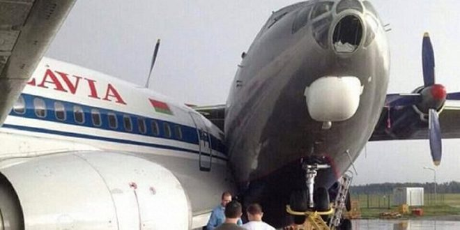"""اصطدام طائرة مغربية بأخرى تركية بمطار """"أتاتورك""""."""