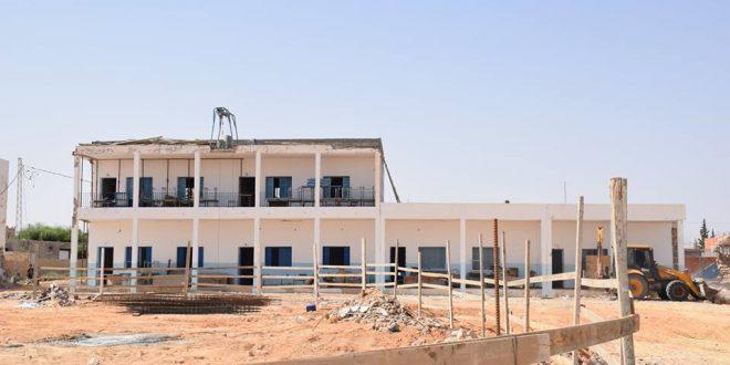 معاينة أشغال تهيئة المعهد الثانوي والمبيت الخاص به بمنزل شاكر