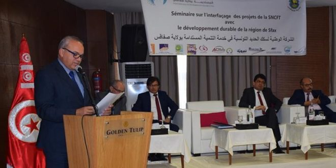 افتتاح الملتقى الخاص بشركة السكك الحديدية التونسية ومساهمتها في التنمية المستدامة بصفاقس