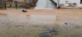 قرقنة :مياه البحر تغمر المنازل في منطقة الشرقي والأهالي يستغيثون..