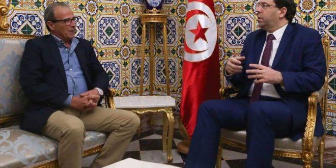 رئيس الحكومة يوسف الشاهد يستقبل رئيس النادي الصفاقسي
