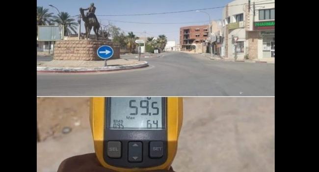 تسجيل رقم قياسي في الحرارة بمدينة دوز: 59,5 درجة