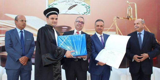 خلال حفل تخرج الفوج 29 من الملحقين القضائيين: تكريم متميز للملحق القضائي أحمد البهلول