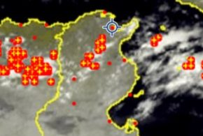 أمطار غزيرة مصحوبة بالبرد في عدد من المواقع